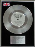 "Depeche Mode - 7"" Platinum Disc - People are People"